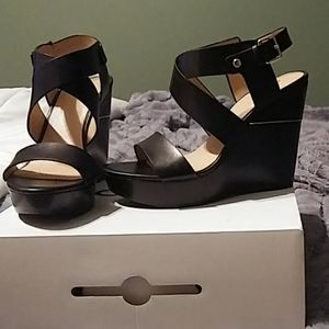 Aldo leather wedge sandals brand new in box..sexy!